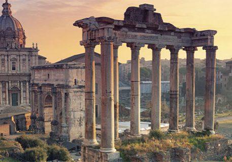 Roman ruins, including columns