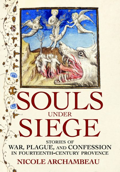 book cover with image of wolf devouring souls and angels rescuing souls