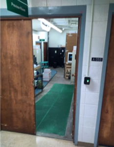 a picture of an open door leading to the Ramp Room