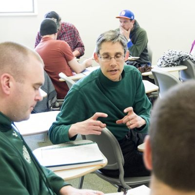 Jared Orsi, Associate Professor of History and 2012 Best Teacher Award winner, teaches HIST492, March 7,2012